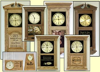 custom personalized clock, custom laser etched clocks