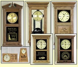 Corporate Awards Clock,  Years of Service Awards, personalized awards clock