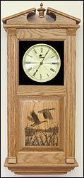 laser etched clocks and Canadian Geese Clock