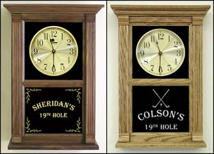 Personalized Golf Clocks and Gifts for Golfers