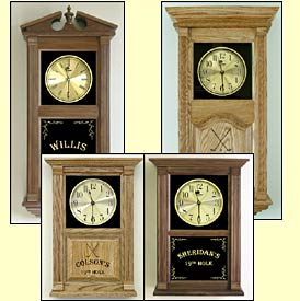 Etched Golfer Clocks and Golfing Themed Gifts
