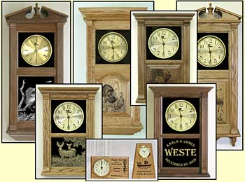 Laser Etched Clocks