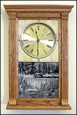 wildlife clocks and stained glass clock