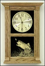 fishing decor clock