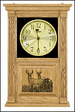 white tail deer clock and engraved clocks