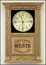 Etched Wedding Clocks
