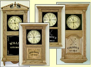 personalized golf clocks and custom clocks