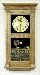 windmill and farm picture clock