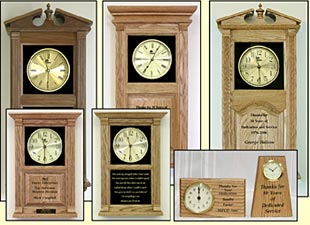 personalized engraved clocks and custom clocks