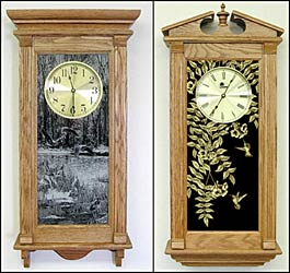 personalized oak wall clocks