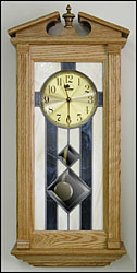 stained glass pendulum clocks