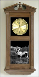 moose decor clock