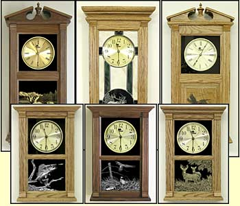Etched Hunter's Clocks, hunter gifts