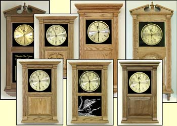Wood Wall Clocks, small wall clock, large wall clocks, wall clocks, themed clocks, corporate awards clocks