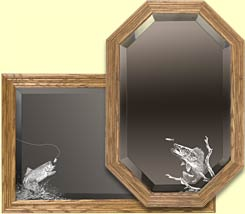 fishing themed mirrors