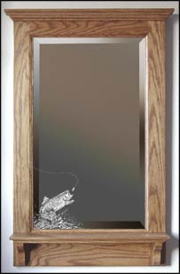 personalized wood framed mirror