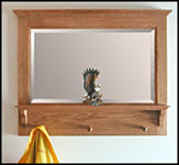 oak hall mirror with shelf