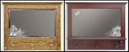 Decorative Etched Mirror