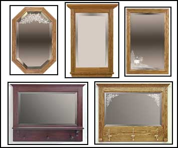hall mirrors, framed mirror, etched mirror