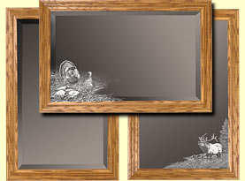Decorative wooden wall mirrors