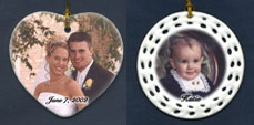 porcelain photo ornaments