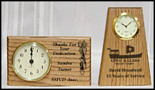 Wood Clocks, Wooden Desk Clocks, handcrafted wood clocks, laser etched clock, custom personalized clock
